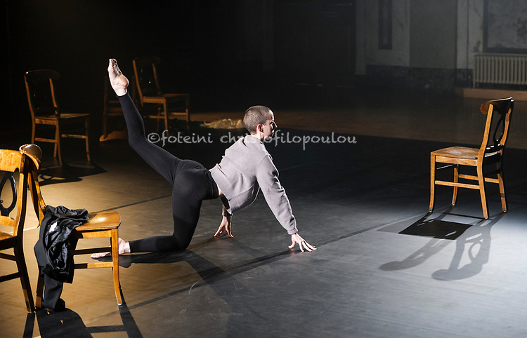 London, UK. 26.10.2017. Shoreditch Takeover is part of Dance Umbrella Festival 2017, featuring choreography by Julie Cunningham. Photo shows: Julie Cunningham.<br /> <br /> Shoreditch Takeover also features Dance, Poetry &amp; Film from Lisbeth Gruwez, Vanessa Kisuule &amp; Charles Linehan. It runs at Shoreditch Town Hall 26-28 October. Photo - &copy; Foteini Christofilopoulou