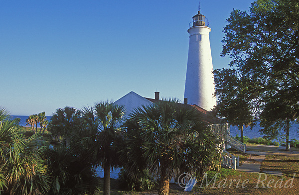 St. Marks Lighthouse, St. Marks National Wildlife Refuge, Florida, USA<br /> Slide # SFL-20