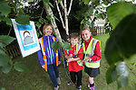 Pupils Sam Stopgate &amp; Seren Russell from Ysgol Pen Y Garth in Penarth with Welsh Water teacher Mari Wort taking part in Bio Diversity Week at Welsh Water Education Centre Cog Moors.<br /> <br /> 24.06.13<br /> &copy;Steve Pope-FOTWALES