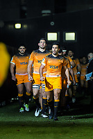 Jaguares captain Jeronimo De La Fuente leads his team out for the 2019 Super Rugby final between the Crusaders and Jaguares at Orangetheory Stadium in Christchurch, New Zealand on Saturday, 6 July 2019. Photo: Dave Lintott / lintottphoto.co.nz