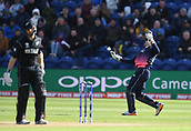Jun 6th, The SSE SWALEC, Cardiff, Wales; ICC Champions Trophy; England versus New Zealand; Kane Williamson of New Zealand is caught behind by Jos Buttler of England who celebrates