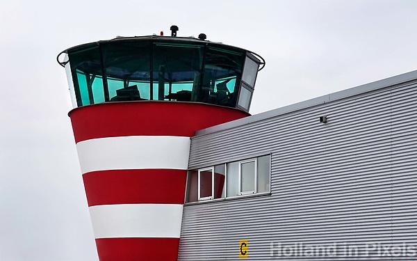Nederland Lelystad-  Januari 2018. De verkeerstoren van Lelystad Airport.    Foto Berlinda van Dam / Hollandse Hoogte