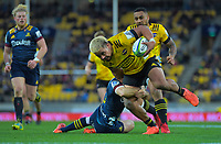 Asafo Aumua in action during the Super Rugby Aotearoa match between the Hurricanes and Highlanders at Sky Stadium in Wellington, New Zealand on Sunday, 12 July 2020. Photo: Dave Lintott / lintottphoto.co.nz