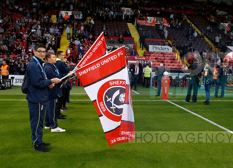 SOGB athletes form a guard of honour during the Carabao Cup, second round match at Bramall Lane, Sheffield. Picture date 22nd August 2017. Picture credit should read: Simon Bellis/Sportimage