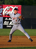 August 14, 2003:  Kody Kirkland of the Oneonta Tigers, Class-A affiliate of the Detroit Tigers, during a NY-Penn League game at Falcon Park in Auburn, NY.  Photo by:  Mike Janes/Four Seam Images