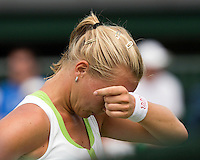 28-06-12, England, London, Tennis , Wimbledon,    Kiki Bertens is frustrated
