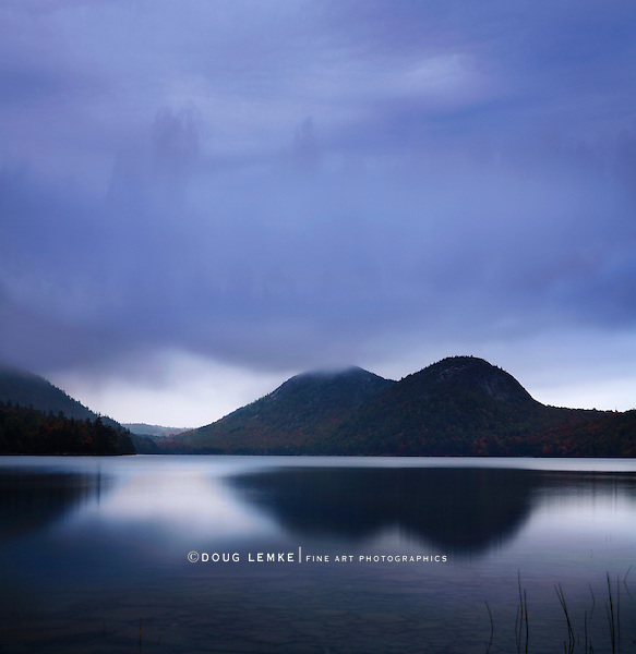 Sundown On The Bubbles At Jordan Pond, Acadia National Park, Maine