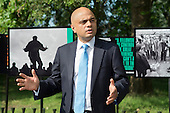 Sajid Javid MP, Secretary of State for Culture Media and Sport, speaks at the opening of the newly re-landscaped speaking area at Speakers' Corner, Hyde Park, London.