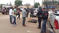 Dez trabalhadores rurais sem terra foram mortos durante durante ação das policias civil e militar na manhã desta quarta-feira (24/05/2017), na fazenda Lúcia, pertencente à família Banbisnki, no  município de Pau D'arco, no sul do Pará,  cerca de 25 km da cidade de Redenção. <br /> <br /> As vítimas são Oseir Rodrigues da Silva,  Regivaldo Pereira da Silva, Jane Júlia de Oliveira, Ronaldo Pereira de Souza e Hercules Santos de Oliveira e Wclebson Pereira Milhomem, Antônio Divino Lira dos Santos, Nelson Souza Milhomem, Bruno Henrique Pereira Gomes e Wedson Pereira da Silva.  Informações confirmadas pela Polícia Civil de Redenção.<br /> Pau D'arco, Pará, Brasil.<br /> Foto Raimundo Costa<br /> 24/05/2017