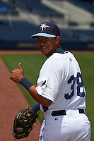 GCL Rays Anthony Cantillo (38) before the second game of a doubleheader against the GCL Red Sox on August 4, 2015 at Charlotte Sports Park in Port Charlotte, Florida.  GCL Red Sox defeated the GCL Rays 2-1.  (Mike Janes/Four Seam Images)