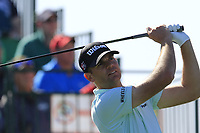 Brendan Steele (USA) tees off the 1st tee during Saturday's Round 3 of the Waste Management Phoenix Open 2018 held on the TPC Scottsdale Stadium Course, Scottsdale, Arizona, USA. 3rd February 2018.<br /> Picture: Eoin Clarke | Golffile<br /> <br /> <br /> All photos usage must carry mandatory copyright credit (&copy; Golffile | Eoin Clarke)