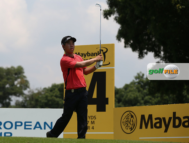 Arnand Vongvanu (THA) during Round Three of the 2014 Maybank Malaysian Open at the Kuala Lumpur Golf & Country Club, Kuala Lumpur, Malaysia. Picture:  David Lloyd / www.golffile.ie