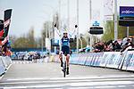 Ellen van Dijk (NED) Trek-Segafredo wins Dwars Door Vlaanderen Elite Women 2019, running 108 km from Tielt to Waregem, Belgium. 3rd April 2019.  <br /> Picture: Trek/Sean Robinson/Velofocus | Cyclefile<br /> <br /> <br /> All photos usage must carry mandatory copyright credit (© Cyclefile | Trek/Sean Robinson/Velofocus)