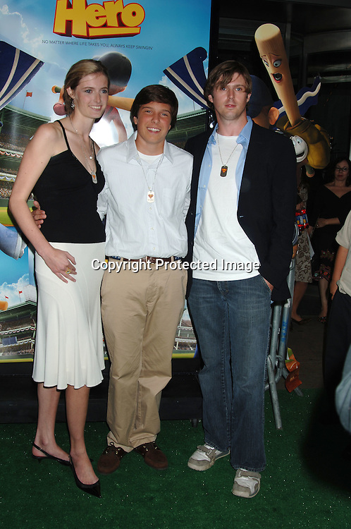 """Christopher Reeve's children Alexandra Reeve,  Will Reeve and Matt Reeve..arriving at the Premiere of """"Everyone's Hero"""" on     September 12, 2006 at The AMC Loews Lincoln Square. ..This was Christopher Reeves last project before he died and he was the original director on this project. ..Robin Platzer, Twin Images"""