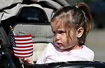 Maggie McCarthy, 2, participates with her family in the 5th annual Veterans Suicide Awareness March, hosted by the Western Nevada College Veterans Resource Center, in Carson City, Nev., on Saturday, May 4, 2019. <br /> Photo by Cathleen Allison/Nevada Momentum
