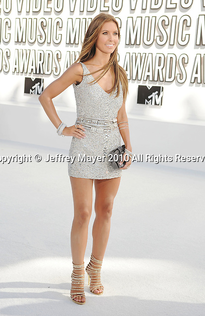 LOS ANGELES, CA. - September 12: TV Personality Audrina Patridge arrives at the 2010 MTV Video Music Awards held at Nokia Theatre L.A. Live on September 12, 2010 in Los Angeles, California.