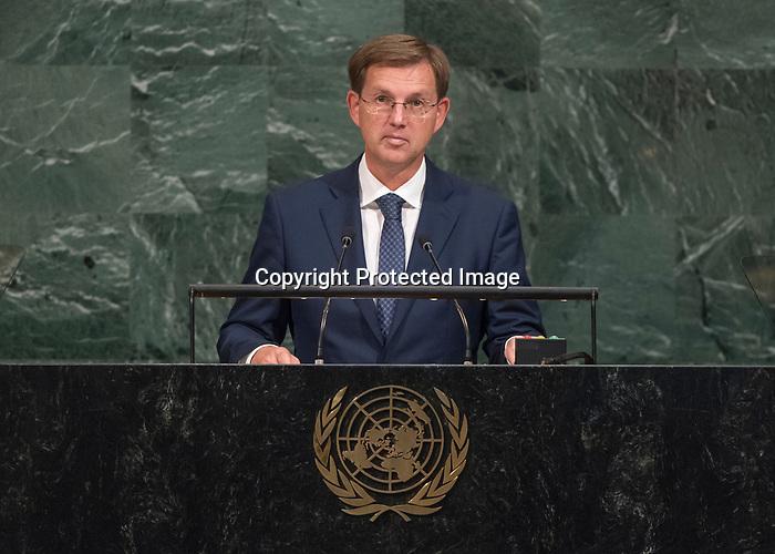 72 General Debate – 20 September <br /> <br /> His Excellency Miro Cerar, Prime Minister of the Republic of Slovenia