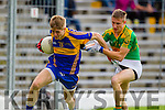 Brian Sugrue South Kerry in Action against Killian Spillane Kenmare in the County Senior Football Semi Final at Fitzgerald Stadium Killarney on Sunday.
