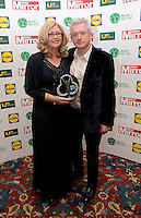 19/05/2015 <br /> Louis Walsh &amp; Paula Kerr <br /> during the Irish mirror pride of Ireland awards at the mansion house, Dublin.<br /> Photo: gareth chaney Collins