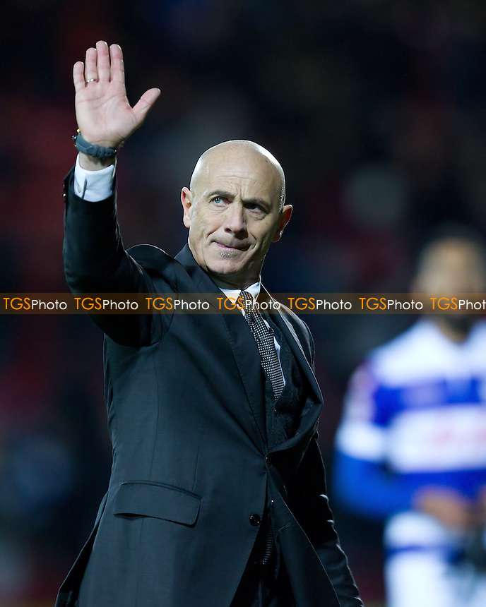 Watford manager Giuseppe Sannino salutes the crowd following the goal less draw with QPR- Watford vs Queens Park Rangers - Sky Bet Championship Football at Vicarage Road Stadium, Watford, Hertfordshire - 29/12/13 - MANDATORY CREDIT: Ray Lawrence/TGSPHOTO - Self billing applies where appropriate - 0845 094 6026 - contact@tgsphoto.co.uk - NO UNPAID USE