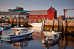 Motif #1, a red fishing shack on Bradley Wharf in Rockport, North Shore, MA, USA
