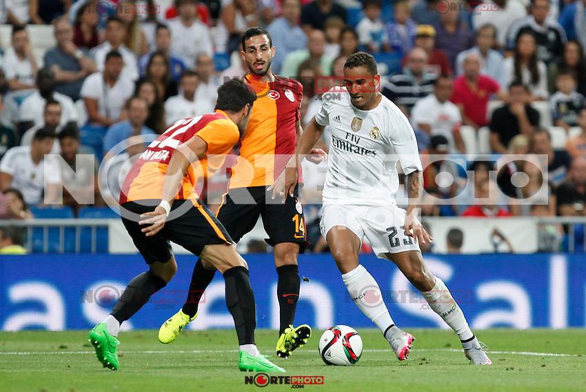 Real Madrid´s Danilo during Santiago Bernabeu Trophy match at Santiago Bernabeu stadium in Madrid, Spain. August 18, 2015. (ALTERPHOTOS/Victor Blanco)