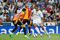 Real Madrid´s Danilo during Santiago Bernabeu Trophy match at Santiago Bernabeu stadium in Madrid, Spain. August 18, 2015. (ALTERPHOTOS/Victor Blanco)