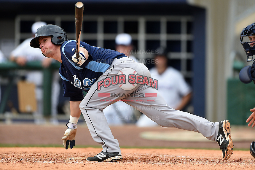 Corpus Christi Hooks designated hitter Tyler Heineman (12) at bat during a game against the NW Arkansas Naturals on May 26, 2014 at Arvest Ballpark in Springdale, Arkansas.  NW Arkansas defeated Corpus Christi 5-3.  (Mike Janes/Four Seam Images)