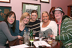 Judith Bellew, Elaine Carolan, Marianne Fanning, Celine Fanning and  Aaron Harrison at the Table Quiz in Foleys...Photo NEWSFILE/Jenny Matthews.(Photo credit should read Jenny Matthews/NEWSFILE)....This Picture has been sent you under the condtions enclosed by:.Newsfile Ltd..The Studio,.Millmount Abbey,.Drogheda,.Co Meath..Ireland..Tel: +353(0)41-9871240.Fax: +353(0)41-9871260.GSM: +353(0)86-2500958.email: pictures@newsfile.ie.www.newsfile.ie.FTP: 193.120.102.198.