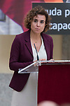 Health minister Dolors Montserrat attends to 'Reina Letizia' Disability 2016-2017 awards at El Pardo Palace in Madrid, Spain. November 21, 2017. (ALTERPHOTOS/Borja B.Hojas)