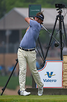 Hank Lebioda (USA) watches his tee shot on 11 during day 3 of the Valero Texas Open, at the TPC San Antonio Oaks Course, San Antonio, Texas, USA. 4/6/2019.<br /> Picture: Golffile | Ken Murray<br /> <br /> <br /> All photo usage must carry mandatory copyright credit (© Golffile | Ken Murray)