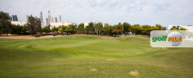 3rd green at The Address Montgomerie Golf Club, Dubai, United Arab Emirates.  27/01/2016. Picture: Golffile | David Lloyd<br /> <br /> All photos usage must carry mandatory copyright credit (&copy; Golffile | David Lloyd)