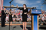 October 16, 2008. Elon, North Carolina..  As the presidential race in North Carolina tightens, Republican Vice presidential candidate, Governor Sarah Palin,  spoke at Elon University to a crowd of thousands of supporters.. North Carolina Senator, Richard Burr, and his wife, joined the candidate on stage.