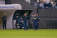 SÃO PAULO, SP, 05.10.2018 - CORINTHIANS-FLAMENGO - Jair Ventura, treinador do Corinthians durante partida contra o Flamengo em jogo válido pela 28ª rodada do Campeonato Brasileiro 2018 na Arena Corinthians em São Paulo, nesta sexta-feira, 05.  (Foto: Anderson Lira/Brazil Photo Press)