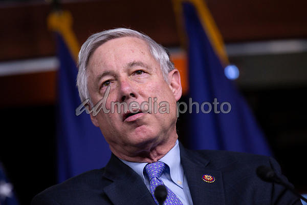 United States Representative Fred Upton (Republican of Michigan), along with bipartisan members of the Problem Solvers Caucus, delivers remarks during a news conference regarding legislative goals for the upcoming year at the United States Capitol in Washington D.C., U.S. on Tuesday, February 11, 2020.  <br /> <br /> Credit: Stefani Reynolds / CNP/AdMedia