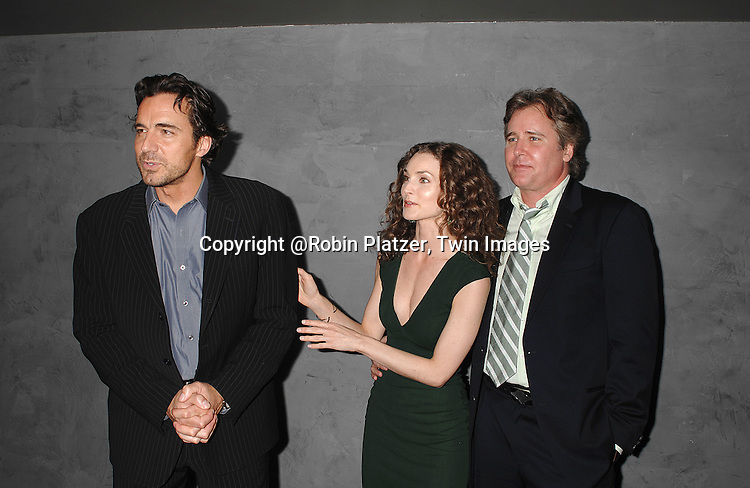 Thorsten Kaye, Alicia Minshew and Michael E Knight..at The Surprise 70th Birthday Party for All My Children's star Susan Lucci's husband Helmet Huber on October 10, 2007 at The Rainbow Room ....Photo by Robin Platzer, Twin images....212-935-0770