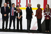 - The Harvard University Crimson tied the visiting Dartmouth College Big Green 3-3 in both team's first game of the season on Saturday, November 1, 2014, at Bright-Landry Hockey Center in Cambridge, Massachusets.