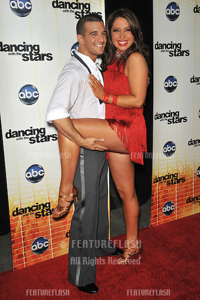 Bristol Palin (daughter of Sarah Palin) & Mark Ballas at the Season 11 premiere of ABC's Dancing With The Stars at CBS Television City, Los Angeles..September 20, 2010  Los Angeles, CA.Picture: Paul Smith / Featureflash