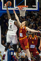 Real Madrid´s Kevin Rivers and Galatasaray´s Pocius during 2014-15 Euroleague Basketball match between Real Madrid and Galatasaray at Palacio de los Deportes stadium in Madrid, Spain. January 08, 2015. (ALTERPHOTOS/Luis Fernandez) /NortePhoto /NortePhoto.com