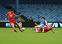 Ben Osborn of Nottingham Forest challenge on Kieran Lee of Sheffield Wednesday during the Sky Bet Championship match between Sheffield Wednesday and Nottingham Forest at Hillsborough, Sheffield, England on 9 September 2017. Photo by Leila Coker / PRiME Media Images.