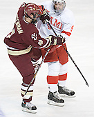 Mike Brennan, Joe Cooper - The Boston College Eagles defeated the Miami University Redhawks 5-0 in their Northeast Regional Semi-Final matchup on Friday, March 24, 2006, at the DCU Center in Worcester, MA.