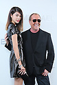 (L-R) Hikari Mori, Michael Kors, <br /> Nov 20, 2015 : <br /> Model Hikari Mori and Designer Michael Kors<br /> attends the Michael Kors store event in Tokyo, Japan on November 20, 2015.<br /> American luxury brand opened its largest flagship store in Tokyo's renowned Ginza district. (Photo by Yohei Osada/AFLO)