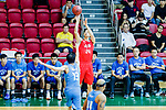 Nixon Nigel Thomas #24 of SCAA Men's Basketball Team tries to score against the Fukien during the Hong Kong Basketball League game between SCAA and Fukien at Southorn Stadium on June 01, 2018 in Hong Kong. Photo by Yu Chun Christopher Wong / Power Sport Images