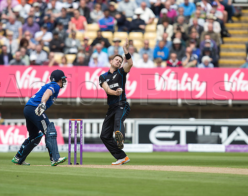 09.06.2015.  Birmingham, England. T20 One Day International. England versus New Zealand. Matt Henry of New Zealand bowling in the first ODI.