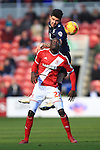 Alex Mowatt of Leeds and Albert Adomah of Middlesbrough in action - Middlesbrough vs. Leeds United - Skybet Championship - Riverside Stadium - Middlesbrough - 21/02/2015 Pic Philip Oldham/Sportimage
