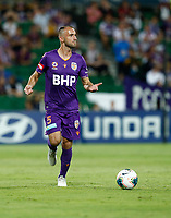 1st February 2020; HBF Park, Perth, Western Australia, Australia; A League Football, Perth Glory versus Melbourne Victory; Ivan Franjic of the Perth Glory looks for a team mate to pass the ball to