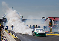Sep 3, 2017; Clermont, IN, USA; NHRA pro stock driver Deric Kramer does a burnout during qualifying for the US Nationals at Lucas Oil Raceway. Mandatory Credit: Mark J. Rebilas-USA TODAY Sports