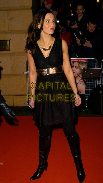 "JAYNE MIDDLEMISS.At the UK Premiere of ""I Want Candy"", .Vue Cinema West End, Leicester Square, .London, England, March 20th 2007..full length black dress boots waist belt jane.CAP/CAN.©Can Nguyen/Capital Pictures"