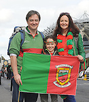 David Clarke, Sophia Clarke and Martina Corley from Keelogues Castlebar at the All Ireland final replay.<br />Pic Conor McKeown