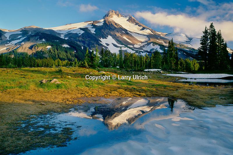 Mt. Jefferson from Jefferson Park<br /> Mt. Jefferson Wilderness<br /> Willamette National Forest<br /> Cascade Range, Oregon